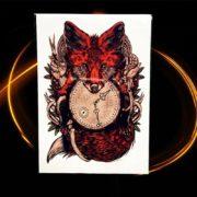začasni tattoo lisica z uro rdeča barva