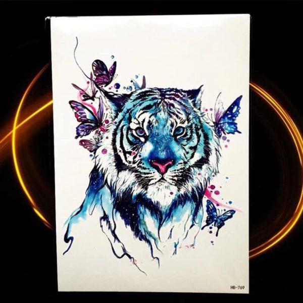 začasni tattoo tiger simbolika mogočnosti in svobode