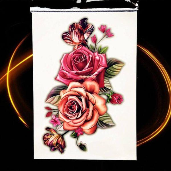 začasni tattoo vrtnice rdece barve