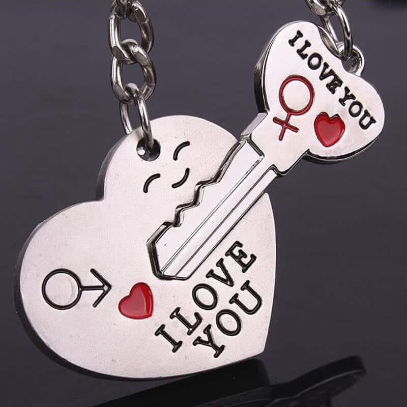 Obesek za ključe I love you - srce in ključ 4