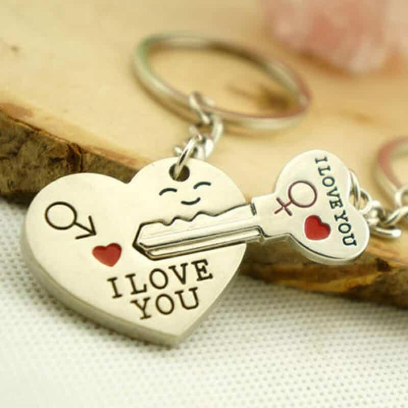 Obesek za ključe I love you - srce in ključ 2