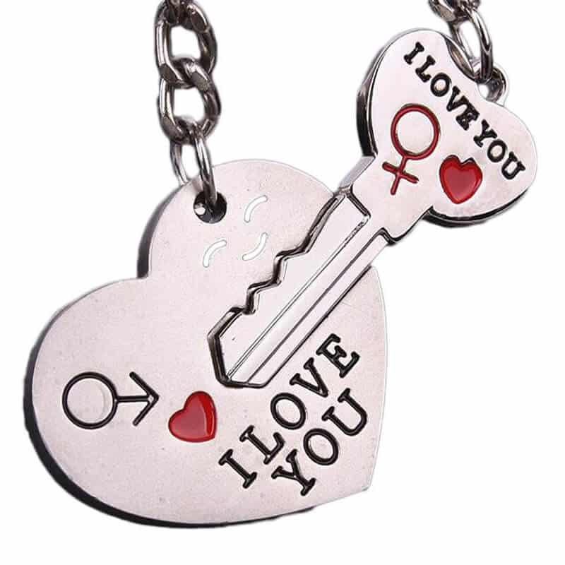 Obesek za ključe I love you - srce in ključ 3