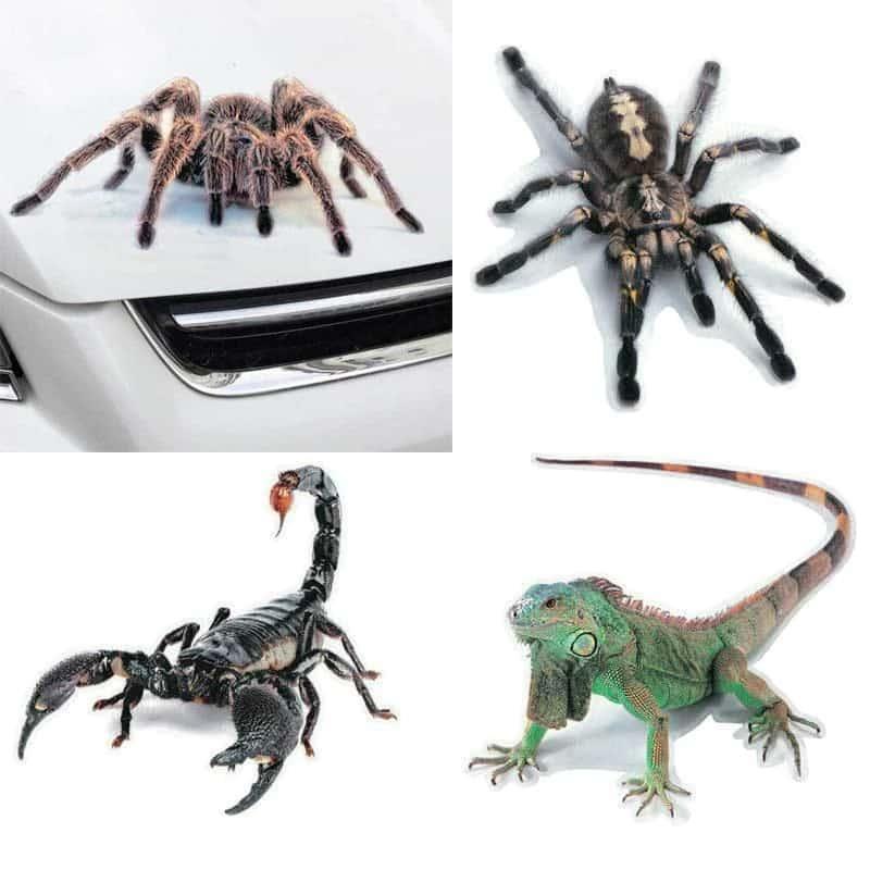 3d nalepke za avto živali