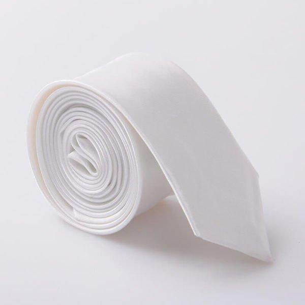 Elegantna kravata - bela barva