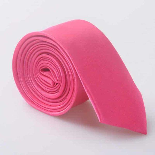 Elegantna kravata - temno roza barva
