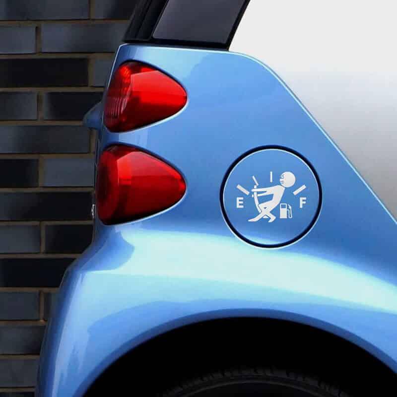Komične nalepke za avto gorivo