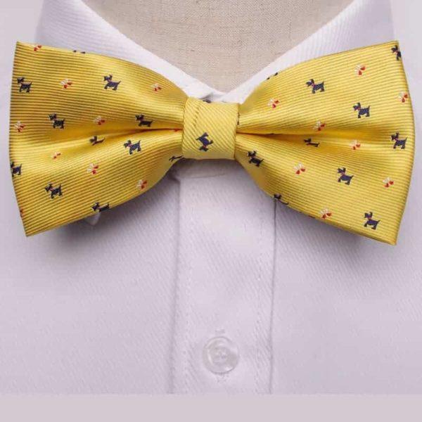 Metuljček - rumena barva z vzorcem psa