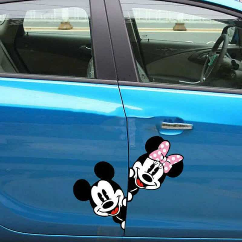 Kreativna nalepka za avto - Mickey and Minnie 1