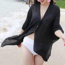Obleka za plažo črna barva