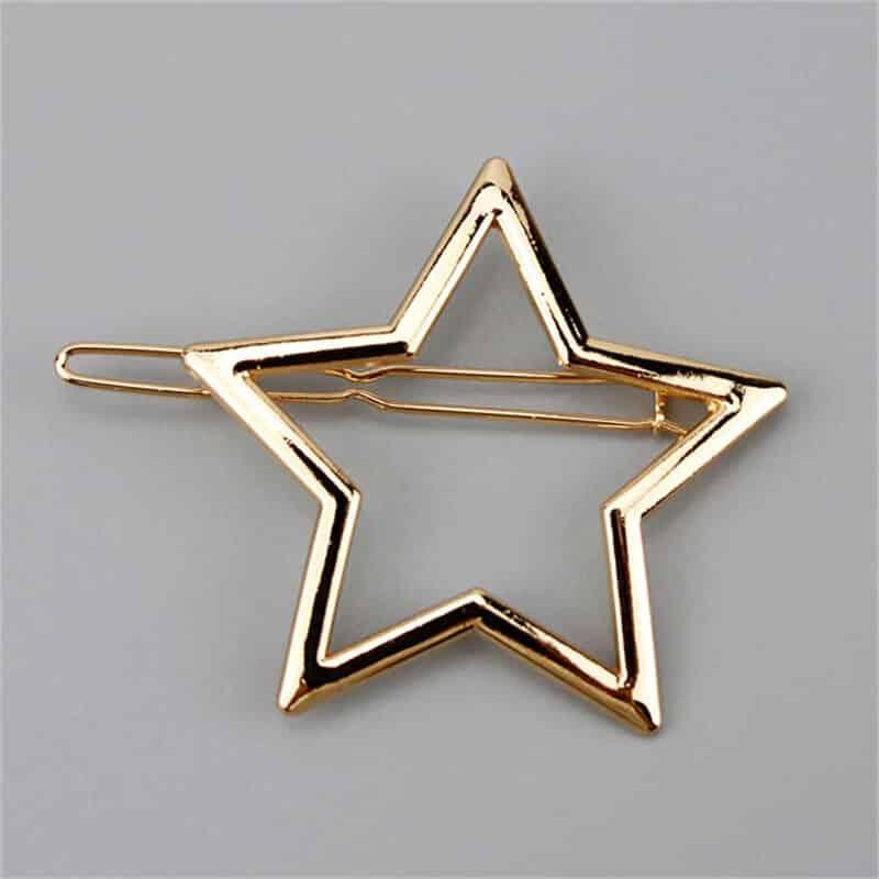 Sponka za lasje v vzorcu zvezdice -zlata