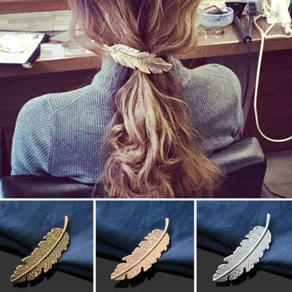 Sponke za lase v obliki lista