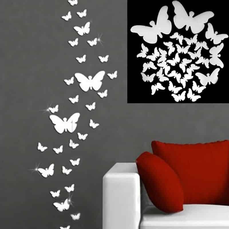 Stenske nalepke 3d metuljček