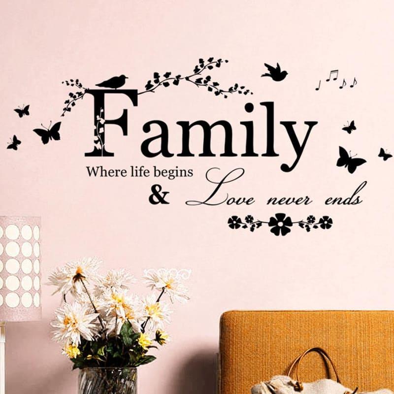Stenske nalepke Družina ljubezen