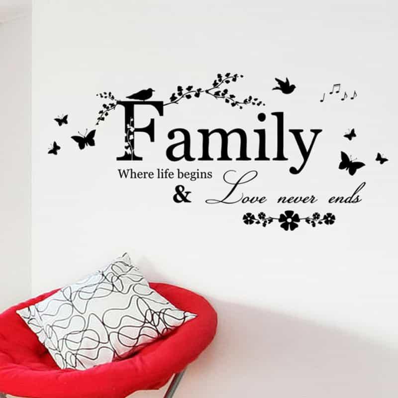 Stenske nalepke Family