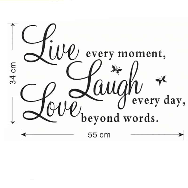 Stenske nalepke Love Laugh Live