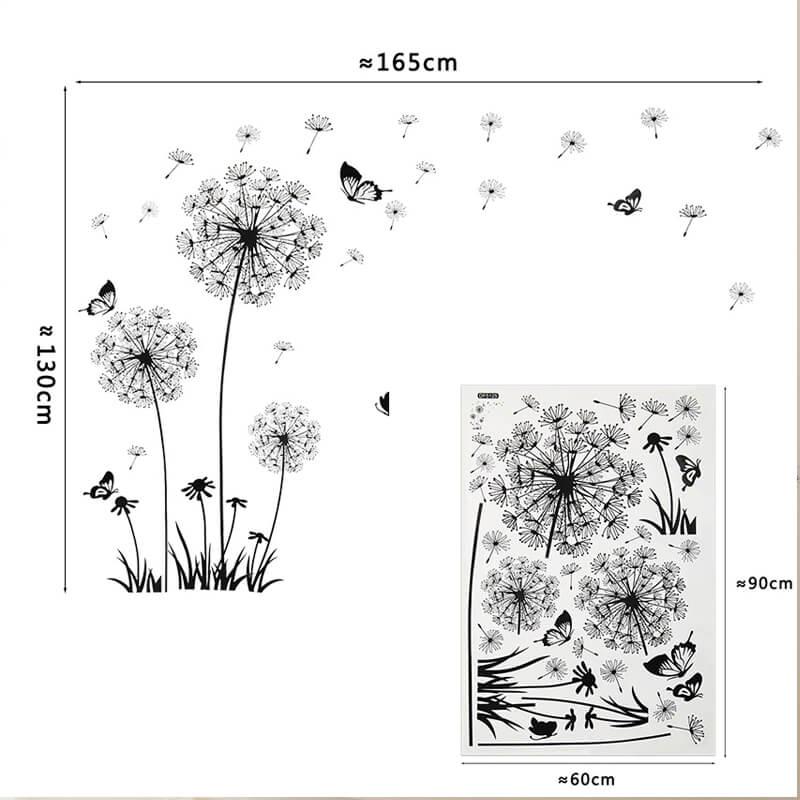 Stenske nalepke Regrat in cvetovi