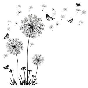Stenske nalepke Regrat z veselimi metuljčki