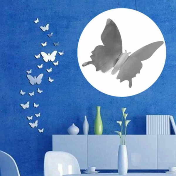 Stenske nalepke moderni 3d metuljček