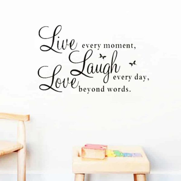 Stenske nalepke napisi Laugh Live Love