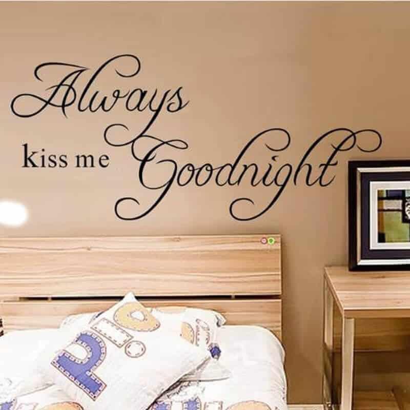 always kiss me goodnight stenske nalepke
