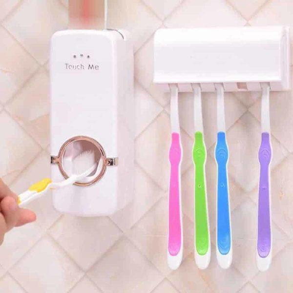 avtomatsko držalo za zobno pasto in držalo za zobne ščetke