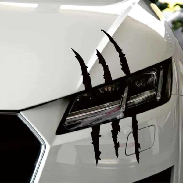 huda nalepka za avto črne barve motiv praske