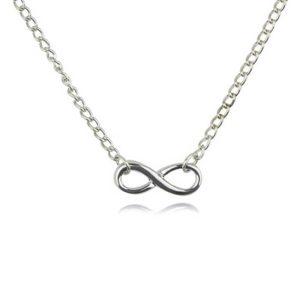 infinity verižica srebrna velika