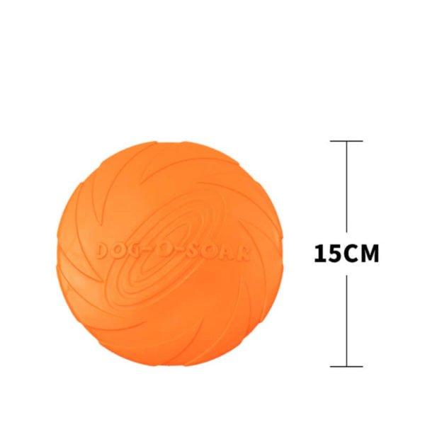 leteči disk za pse oranžne barve