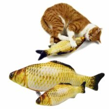 mačja igrača plišasta riba za igranje
