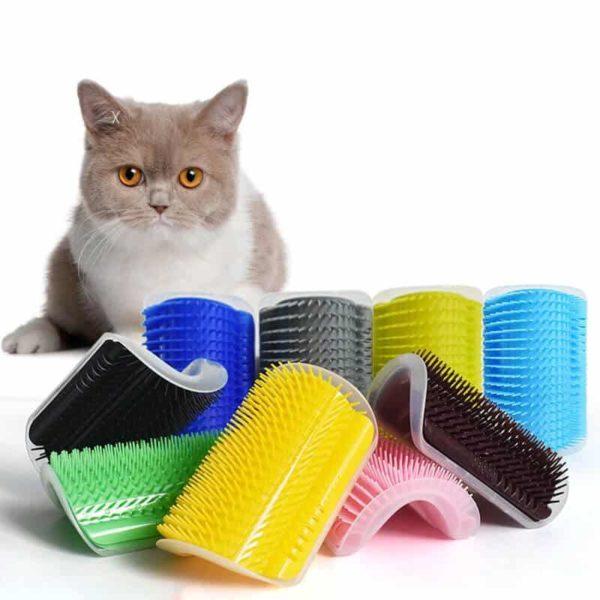 mačje krtače za samostojno česanje mačke več barv