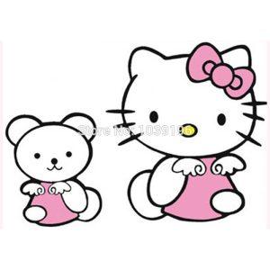 nalepka Hello Kitty črno roza barva