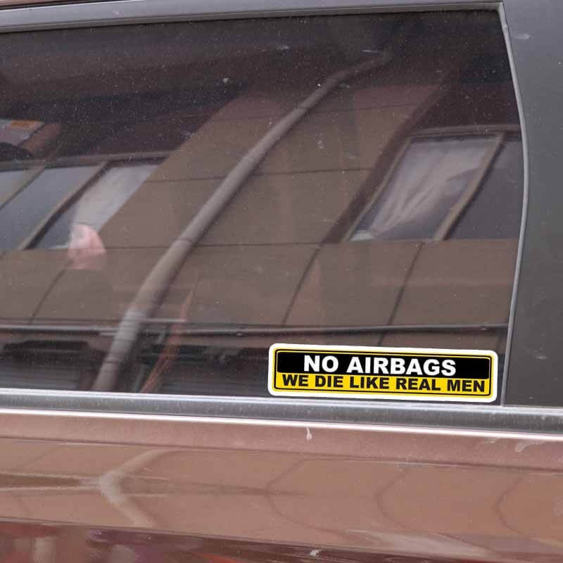 nalepka no airbags