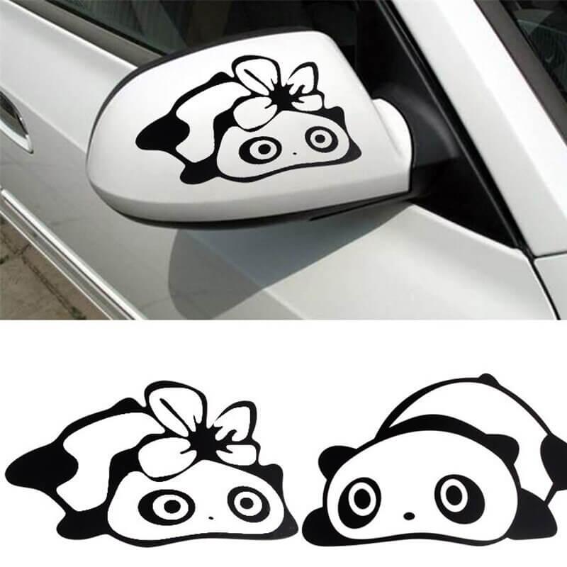 nalepka panda črne barve za avto