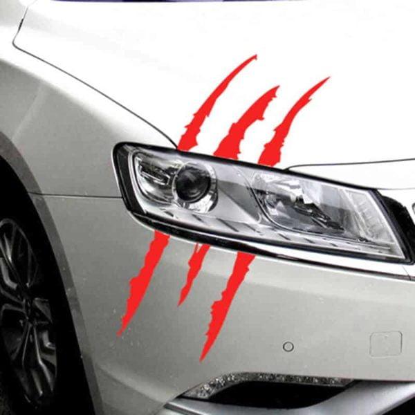 nalepka za avto moderne praske rdeča barva