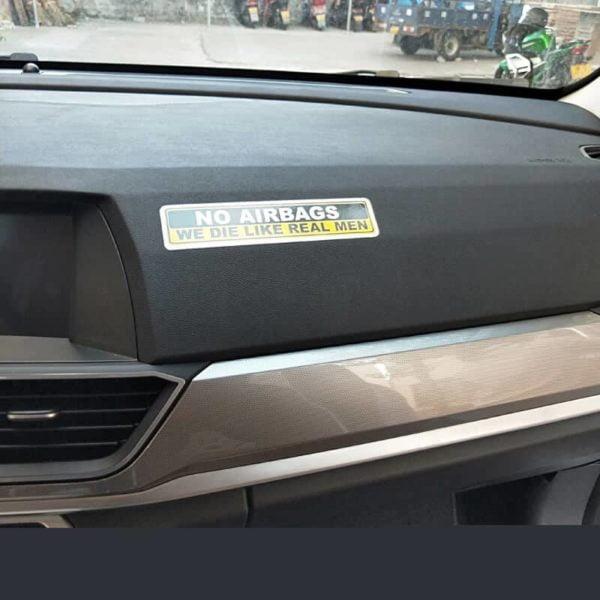 nalepka za avto no airbags