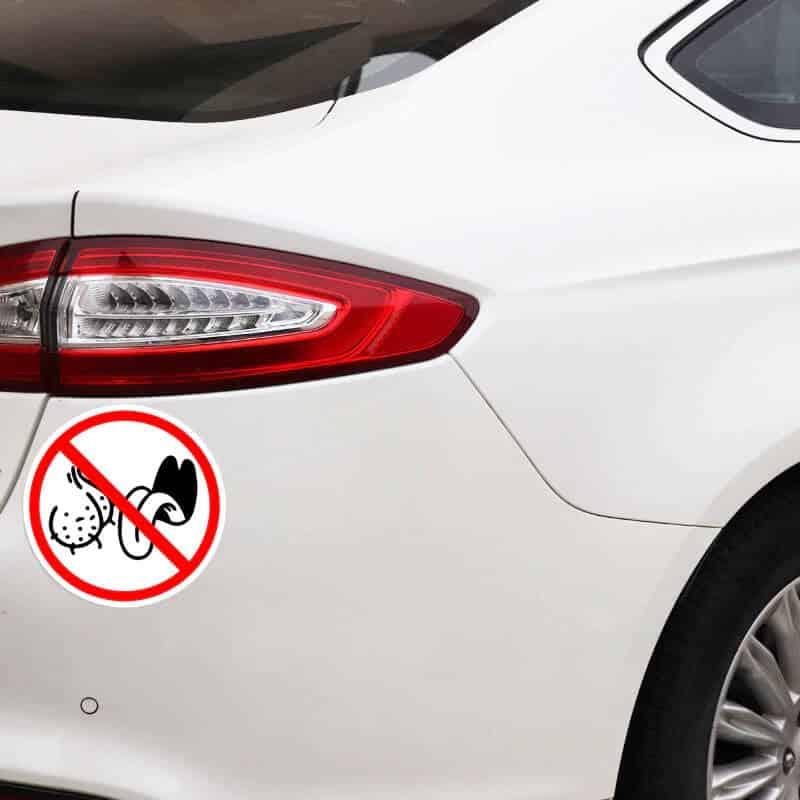 nalepka za avto prepovedano lizanje jajc