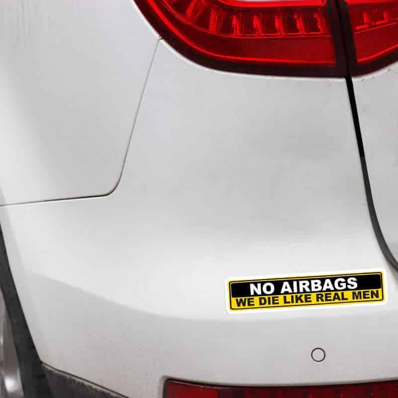 no airbags nalepka za avto