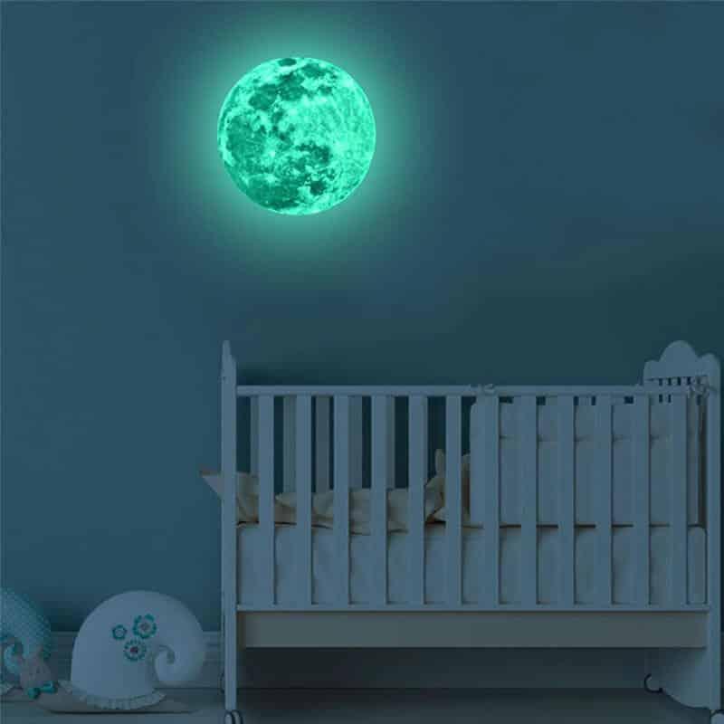 otroška stenska nalepka luna
