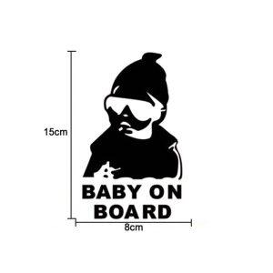 otrok v avtu - baby on board - nalepka za avto