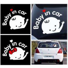 otrok v avtu nalepka za avto