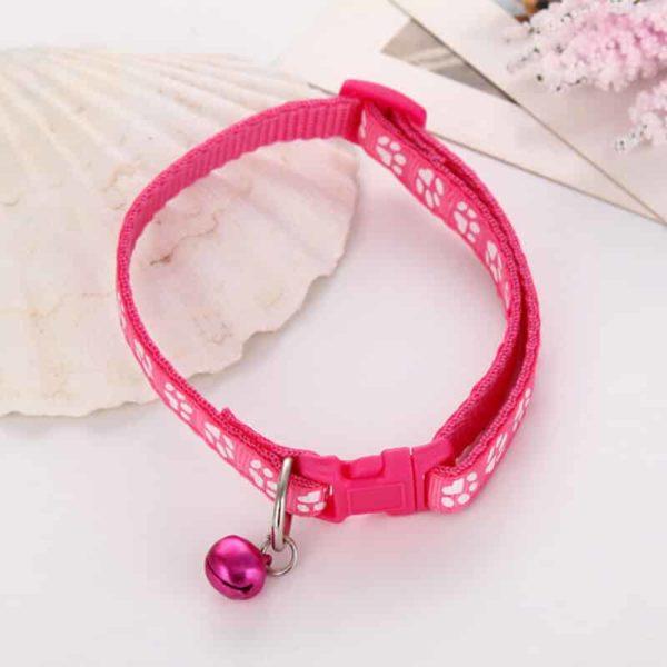 ovratnica za mačke roza barve