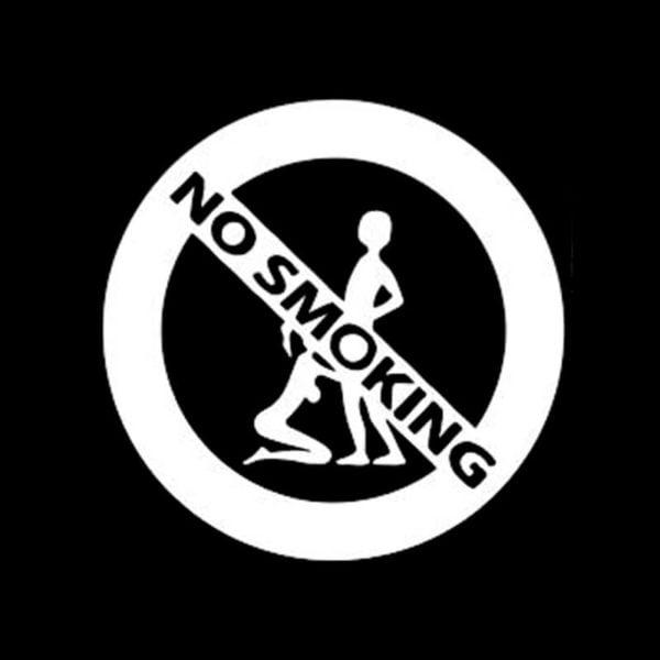 prepovedano kajenje nalepka za avto smešna
