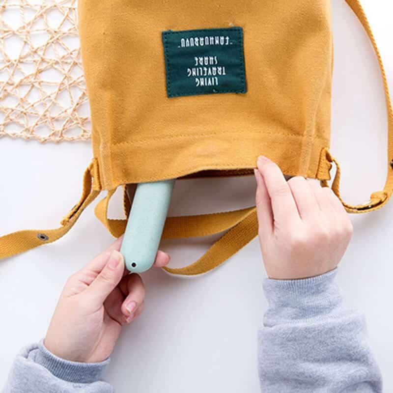 shranjevanje zobne ščetke v torbo