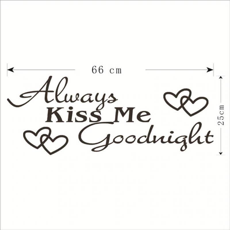 stenske nalepke always kiss me
