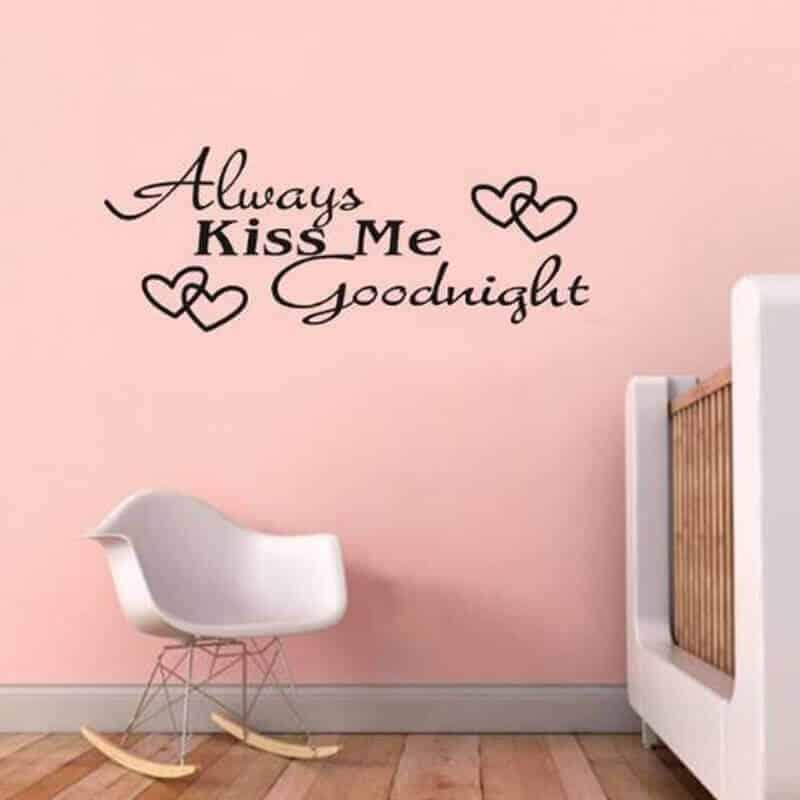 stenske nalepke always kiss me goodnight