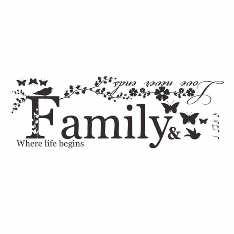 stenske nalepke family love