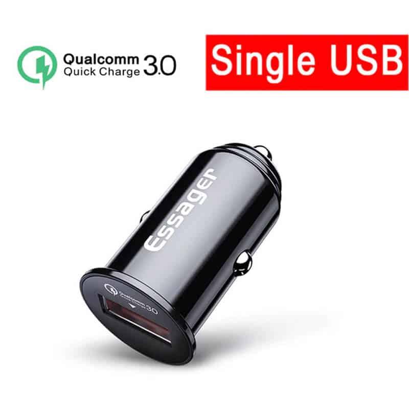 USB polnilec za avto - Essager 1