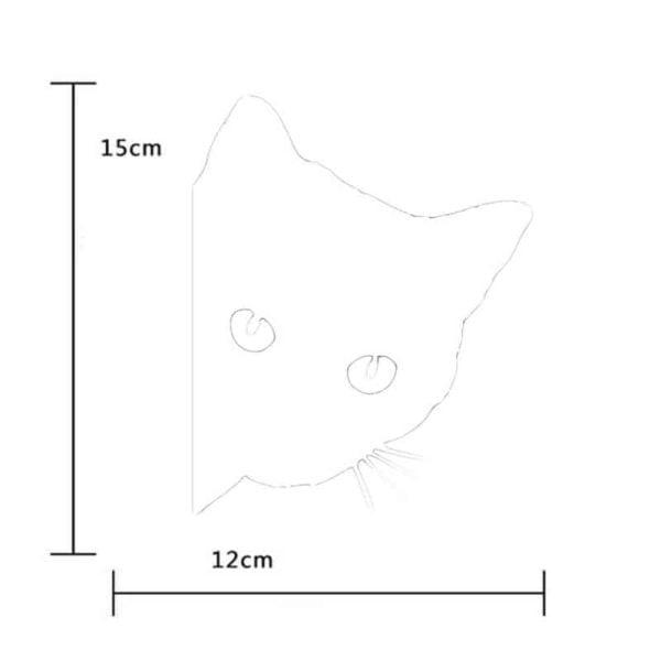 velikost nalepke za avto mačka