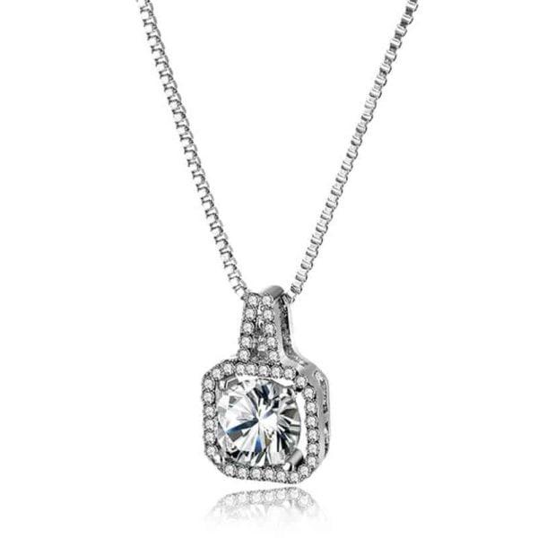 Prekrasna verižica z bleščečim diamantom