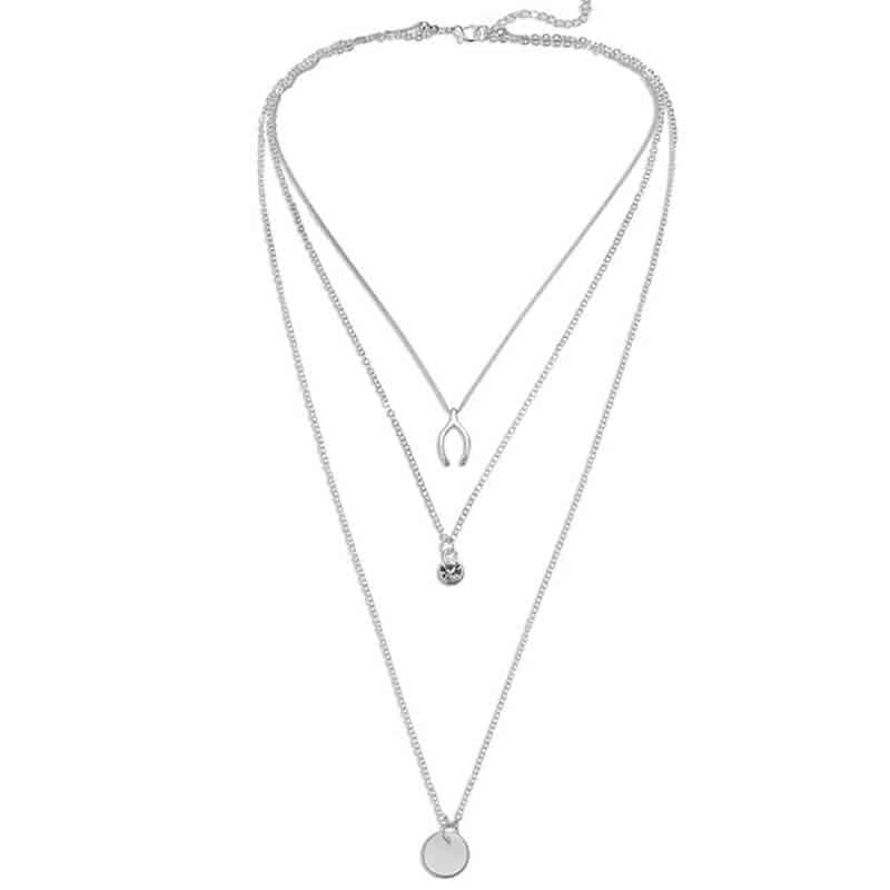 Večslojna verižica z prekrasnim dijamantom